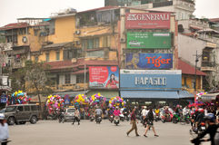 De Stadsmening van Hanoi Vietnam Royalty-vrije Stock Foto's