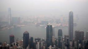 De stadsmening van Hongkong stock videobeelden