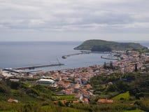 De stadsmening van Horta Stock Fotografie