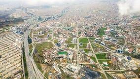 De stadsmening van Istanboel van hemel in Turkije stock foto's