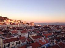 De stadsmening van Lissabon Stock Foto