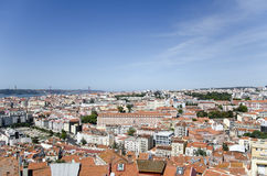 De stadsmening van Lissabon Royalty-vrije Stock Foto