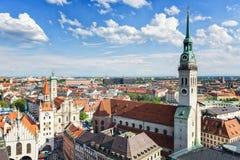 De Stadsmening van München Stock Afbeeldingen