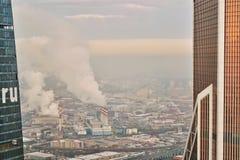 De stadsmening van Moskou royalty-vrije stock foto's