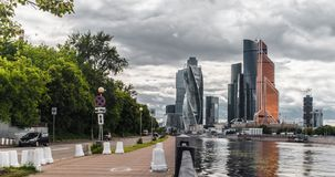 De stadsmening van Moskou stock videobeelden