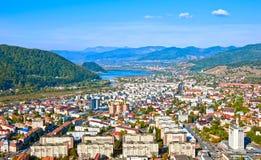 De stadsmening van Neamt van Piatra Royalty-vrije Stock Foto