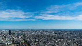 De stadsmening van Parijs van de Toren van Eiffel royalty-vrije stock afbeeldingen