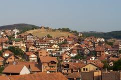 De stadsmening van Pazar van Novi Stock Afbeeldingen