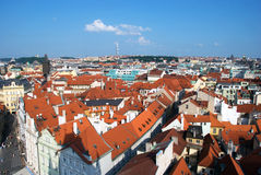 De stadsmening van Praag Stock Fotografie