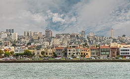 De stadsmening van San Francisco van de Baai Royalty-vrije Stock Afbeeldingen