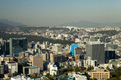 De stadsmening van Seoel Royalty-vrije Stock Afbeelding