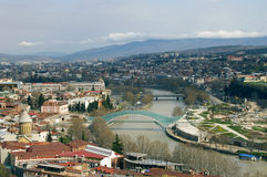 De stadsmening van Tbilisi Stock Afbeeldingen