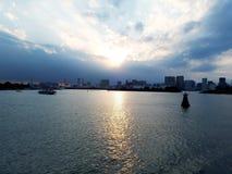 De Stadsmening van Tokyo van Sumida-Rivier Stock Afbeelding