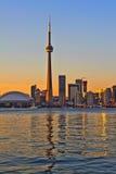 De stadsmening van Toronto stock afbeeldingen