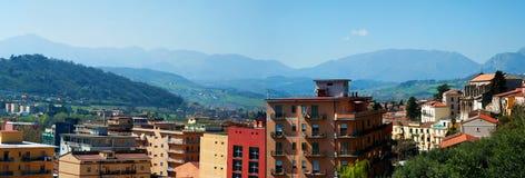 De stadsmeningen van Benevento Royalty-vrije Stock Afbeeldingen