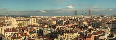 De stadsmeningen van Lyon Stock Foto's