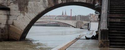 De stadsmeningen van Lyon Royalty-vrije Stock Afbeeldingen
