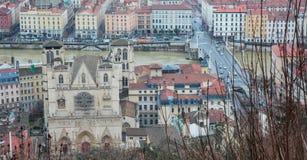 De stadsmeningen van Lyon Stock Afbeeldingen
