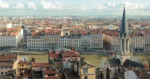 De stadsmeningen van Lyon Stock Afbeelding