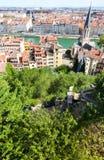 De stadsmeningen van Lyon Royalty-vrije Stock Foto