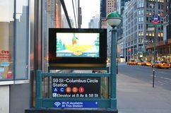 De Stadsmetro Columbus Circle Station van New York Stock Fotografie