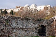 De stadsmuren van Constantinopel royalty-vrije stock fotografie