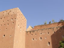 De stadsmuren van Marrakech Stock Foto's