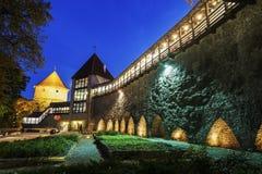 De Stadsmuren van Tallinn Royalty-vrije Stock Afbeeldingen