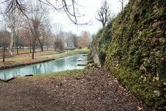 De stadsmuren van Treviso, is het complex van de verdedigingsdiewerken in de loop van de eeuwen worden opgericht de stad van vija royalty-vrije stock foto