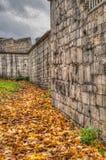 De stadsmuur van York Stock Foto