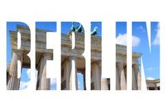 De stadsnaam van Berlijn royalty-vrije stock afbeelding