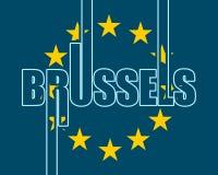 De stadsnaam van Brussel vector illustratie
