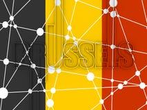 De stadsnaam van Brussel stock illustratie