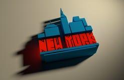 De stadsnaam van New York Het creatieve Concept van de Typografieaffiche Royalty-vrije Stock Foto