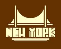 De stadsnaam van New York Het creatieve Concept van de Typografieaffiche Royalty-vrije Stock Afbeelding