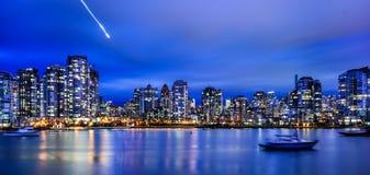 De stadsnacht van Vancouver Stock Fotografie