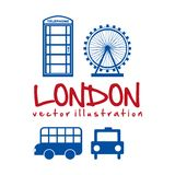 De stadsontwerp van Londen Royalty-vrije Stock Afbeeldingen