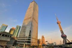 De stadsontwikkeling van China Shanghai Stock Afbeeldingen