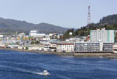 De Stadsoriëntatiepunt van Alaska ` s Ketchikan Stock Afbeelding