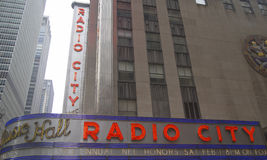 De Stadsoriëntatiepunt van New York, de Radiozaal van de Stadsmuziek in Rockefeller-Centrum Royalty-vrije Stock Foto's