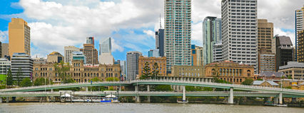 De Stadspanorama van Brisbane Stock Fotografie