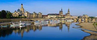 De stadspanorama van Dresden Stock Afbeeldingen