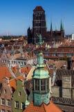 De Stadspanorama van Gdansk Stock Foto