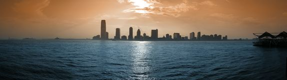 De stadspanorama van Jersey Royalty-vrije Stock Foto