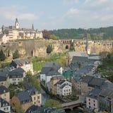De Stadspanorama van Luxemburg Stock Foto's