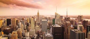 De stadspanorama van New York Royalty-vrije Stock Afbeeldingen