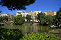 De stadspark van Barcelona royalty-vrije stock afbeeldingen