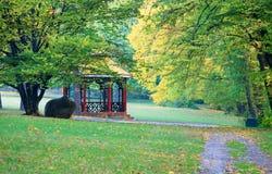 De stadspark van de herfst Royalty-vrije Stock Fotografie