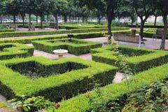 De stadspark van Malaga stock foto's