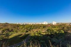 De stadspark van Ribeiraopreto, het Park van akacurupira Royalty-vrije Stock Afbeeldingen